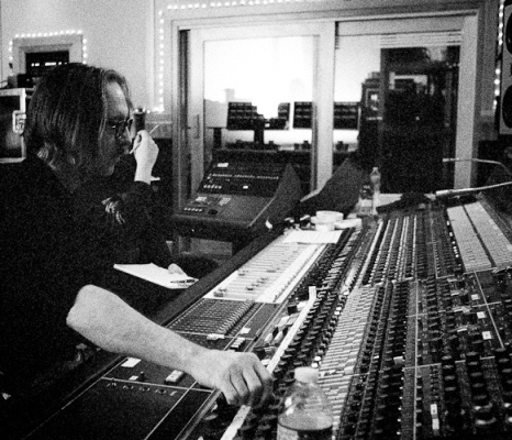 The producer of Nevermind and Wasting Light in action!