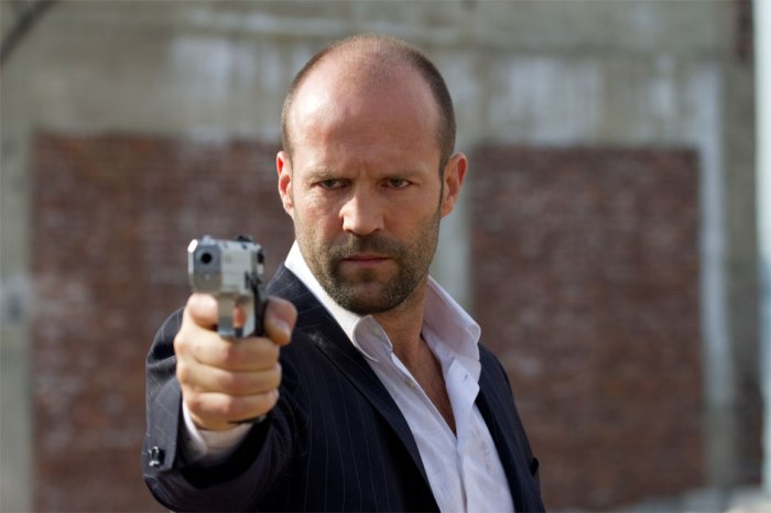 There's so many picture of Jason holding a gun in his movie, bet this one looks familiar among his movies